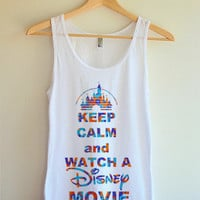 Keep Calm and Watch A Disney Movie Tank Top