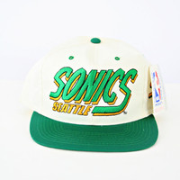 vintage 90s SEATTLE SUPERSONICS snapback hat