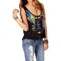 Black Metallic Ethnic Tank