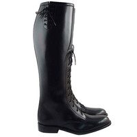 DM LADIES FIELD BOOTS LONG FRONT LACES ENGLISH RIDING