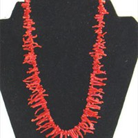 Red Imitation Coral Necklace