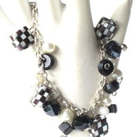 Black and white bracelet - Chain and Beads