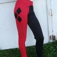 Harley Quinn Batman S-XL costume Cosplay Pants Arkham City | PoppysWickedGarden - Clothing on ArtFire