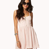 Sweetheart Eyelet Dress | FOREVER 21 - 2037608529
