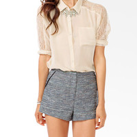 Lace Panel Dolman Blouse | FOREVER 21 - 2025100586