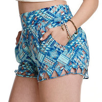 Kendall & Kylie Cutout Printed Shorts at PacSun.com