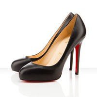 Christian Louboutin New Declic 120mm Leather Shoes Black - &amp;#36;142.00