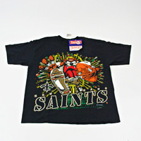 vintage 90s NEW ORLEANS saints TAZ t-shirt