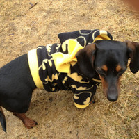 CUSTOM Batman Superhero Dog / Cat Fleece Hoodie Coat