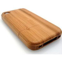 Iphone 4 Bamboo Case - Hand Made - Hard Wood - Protective Hard Case