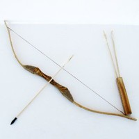 Wooden Bow Set with 3 Arrows