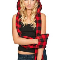 Scoodie Redblack Plaid
