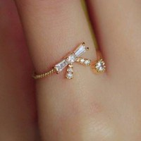 Diamond and Bow Rhinestone Ring | LilyFair Jewelry