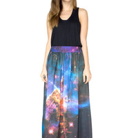Mystic Mountain Nebula Maxi Skirt