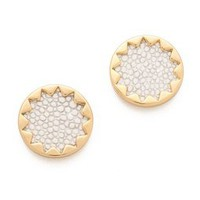 House of Harlow 1960 White Sand Sunburst Stud Earrings | SHOPBOP