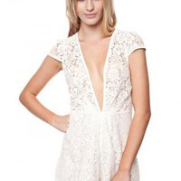 Lace Low Cut Romper