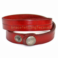 Leather cuff bracelet wine leather cuff women wrist bracelet jewelry bracelet charm bracelet friendship bracelet  d-386