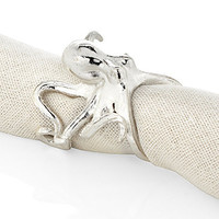 Octopus Napkin Ring - Set of 4 - Silver | Napkin-rings | Tabletop-and-bar | Z Gallerie