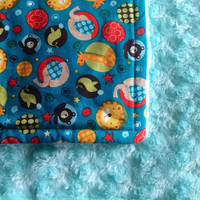 Oversized Baby  Toddler minky blanket throw by BlueBearDesigns