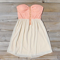 August Glow Dress in Peach, Sweet Women's Summer & Party Dresses