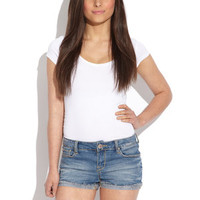 VELVET HEART Denim Janna Distressed Short Short