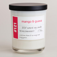 Mango and Guava Soy Filled Jar Candle - World Market