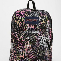 Jansport Neon Animal Print Backpack