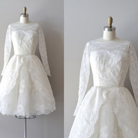 lace 50s wedding dress / 1950s dress / Now or Never dress