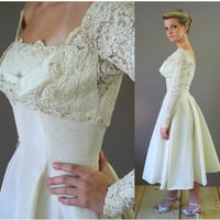 1950s Sally Milgrim Wedding Dress