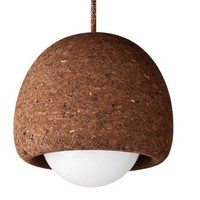 Dark Cork large Orb Lamp