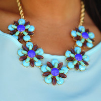 Feeling Fancy Necklace: Mint/Multi | Hope's
