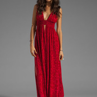 Indah Anjeli Empire Maxi Dress in Antik Red from REVOLVEclothing.com