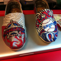Texas Rangers Toms by HeartNSoleDesigns on Etsy