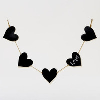 Chalkboard Hearts on a String | World Market