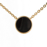 American Apparel - Black Circle Necklace