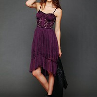 Free People High Low Embellished Slip