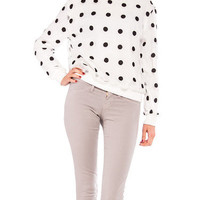 Dotted Sheer Double Layer Sweater | 2020AVE