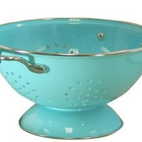 Calypso Basics 3 Quart powder coated Colander, Turquoise