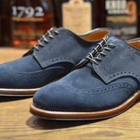 Alden Shoe – Navy Suede Shortwing (LSW) | Leather Soul
