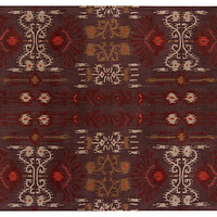 One Kings Lane - Worldly Foundations - Paxton Rug, Sand/Charcoal/Burgundy