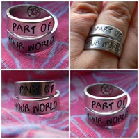 part of your world little mermaid inspired swirl ring