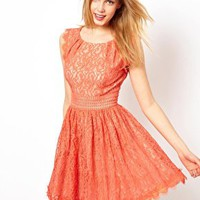 Darling Lace Skater Dress at asos.com