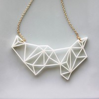 Geometric Necklace  Modern Minimalist Triangle and Prism by iluxo