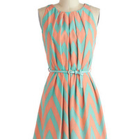 Great Wavelengths Dress in Pastel | Mod Retro Vintage Dresses | ModCloth.com