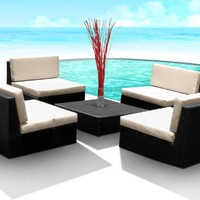 Outdoor Patio PE Resin Wicker Furniture All Weather