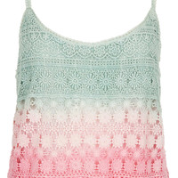Dip Dye Crochet Cami - Tops - Clothing - Topshop