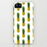 Pineapple Pattern iPhone & iPod Case by Chris Klemens