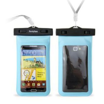 """DandyCase Blue Waterproof Case for Apple iPhone 5, Galaxy S4, HTC One, iPod Touch 5 - Also fits other Large Smartphones up to 5.3"""" Including"""