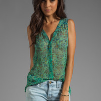 Gypsy 05 Cambridge Floral Print Blouse in Grass from REVOLVEclothing.com