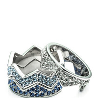 Ombre Blue Pave Bear Trap Ring by Eddie Borgo for Preorder on Moda Operandi